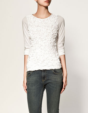 Camiseta Relieve Zara