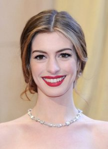 Anne Hathaway Red Lips