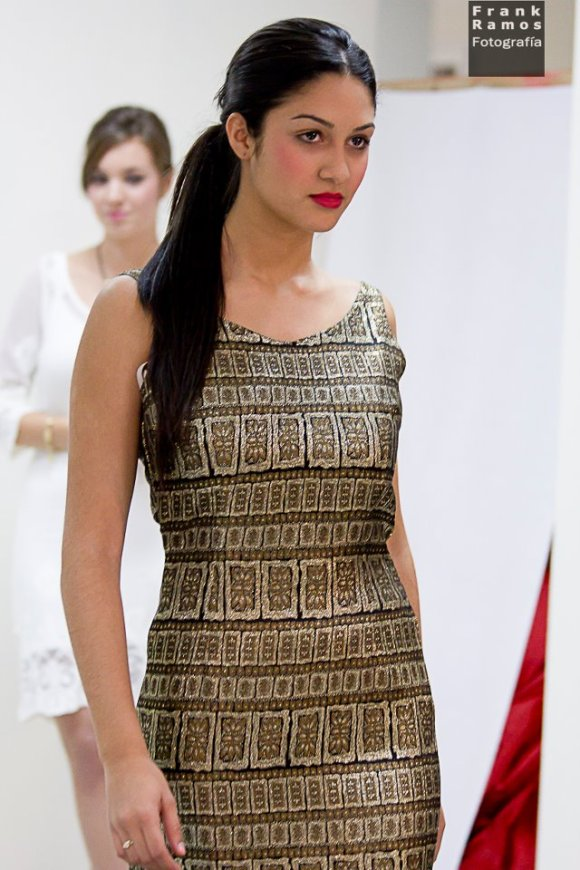 Vestido con brocado Rosa Rodríguez