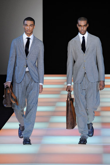 Pantalones anchos de Giorgio Armani