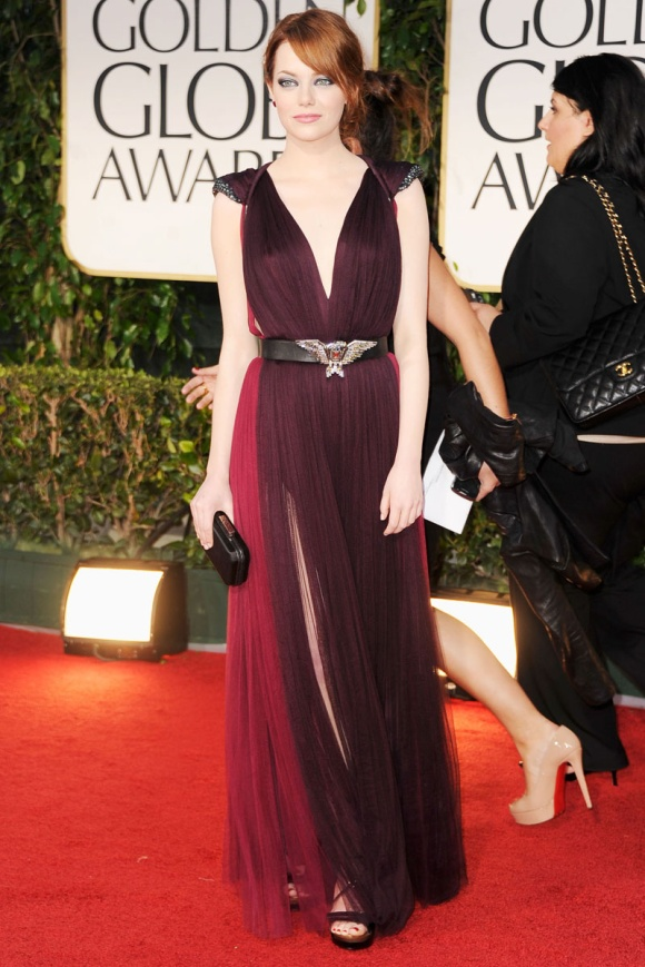 Emma Stone Lanvin Golden Globe