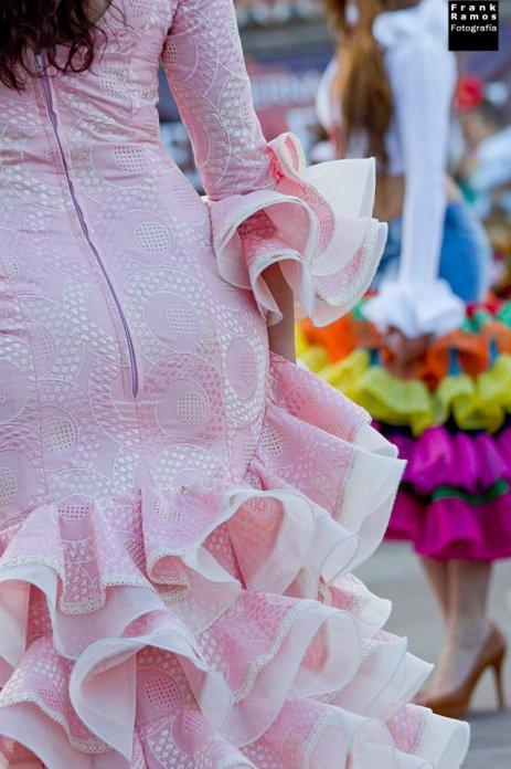 Trajes de flamenca en el desfile de moda DEMOMAF