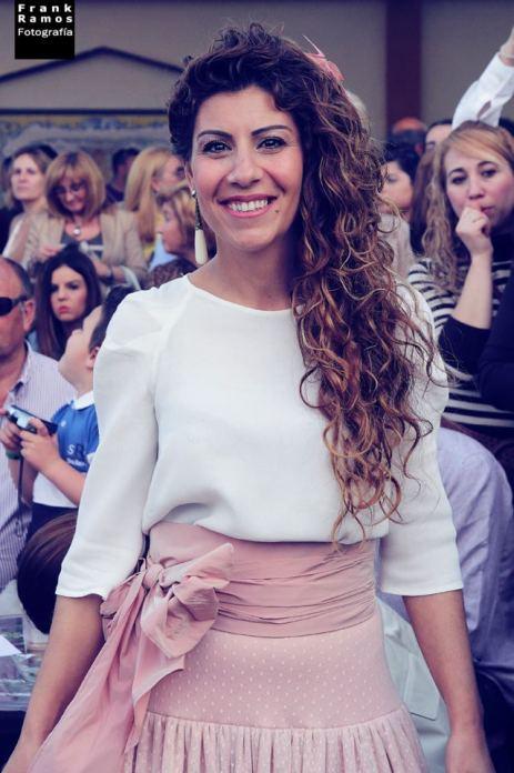 Belén Zotano, diseñadora de bisutería en el desfile Demomaf