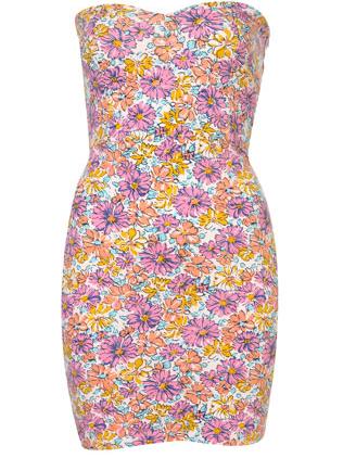 print floral vestido de topshop